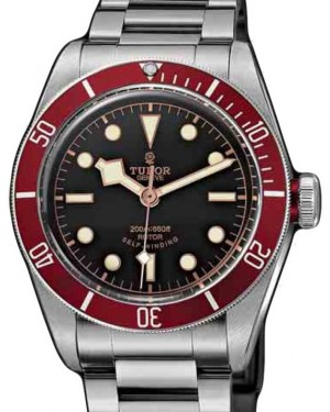 Tudor Heritage Black Bay 79220R-95740 Black Index Stainless Steel & Burgundy Bezel 41mm BRAND NEW