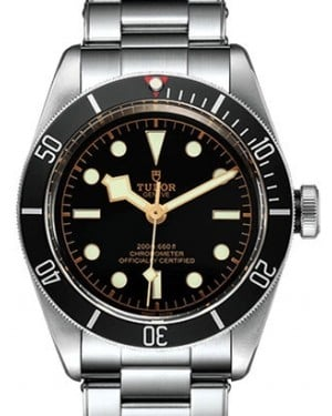 Tudor Heritage Black Bay Stainless Steel 41mm Black Bezel Riveted Steel Bracelet 79230N - BRAND NEW