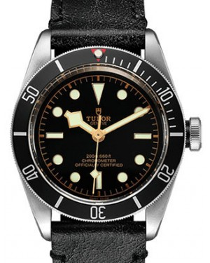 Tudor Heritage Black Bay 79230N Black Index Stainless Steel & Leather 41mm BRAND NEW