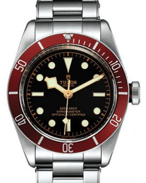 Tudor Heritage Black Bay 79230R Black Index Stainless Steel & Burgundy Bezel 41mm BRAND NEW