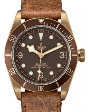 Tudor Heritage Black Bay Bronze Brown Arabic & Index Stainless Steel Bronze-Colored PVD Coating 43mm 79250BM - BRAND NEW