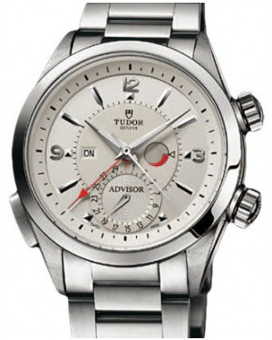 Tudor Heritage Advisor 79620T-95740 Silver Arabic & Index Titanium & Stainless Steel 42mm BRAND NEW