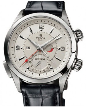Tudor Heritage Advisor 79620T Silver Arabic & Index Titanium & Stainless Steel & Leather 42mm BRAND NEW