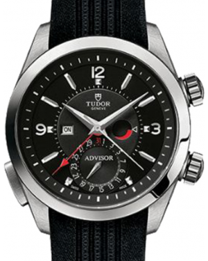 Tudor Heritage Advisor 79620TN Black Arabic & Index Titanium & Stainless Steel Black Rubber 42mm BRAND NEW