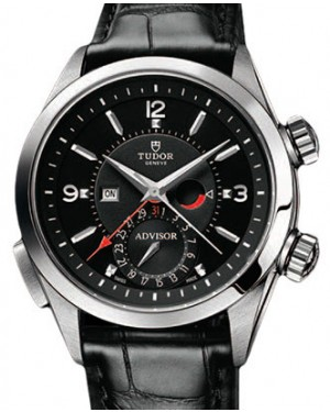 Tudor Heritage Advisor 79620TN Black Arabic & Index Titanium & Stainless Steel & Leather 42mm BRAND NEW