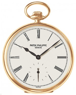 Patek Philippe 973J-010 Lepine Pocket Watch 44mm Ivory Roman Yellow Gold Manual BRAND NEW