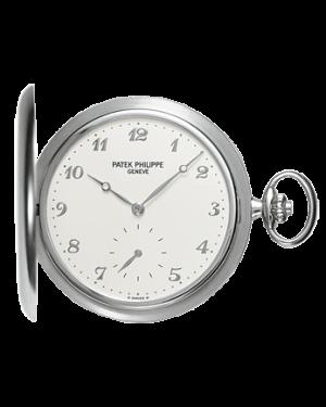 Patek Philippe 980G-010 Lepine Pocket Watch 48mm Ivory Arabic White Gold Manual BRAND NEW