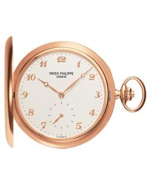Patek Philippe 980R-001 Lepine Pocket Watch 48mm Ivory Arabic Rose Gold Manual BRAND NEW