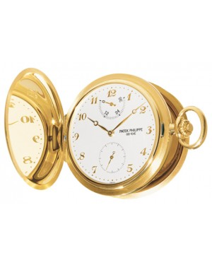 Patek Philippe 983J-001 Lepine Pocket Watch 48mm Ivory Arabic Yellow Gold Manual BRAND NEW