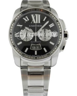 CARTIER W7100061 CALIBRE DE CARTIER CHRONOGRAPH 42mm Stainless Steel BRAND NEW