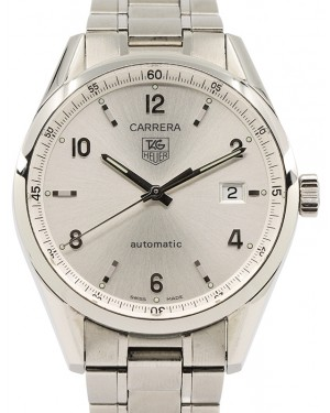 Tag Heuer Carrera Stainless Steel Silver Arabic Dial & Stainless Steel Bracelet WV211A - PRE-OWNED