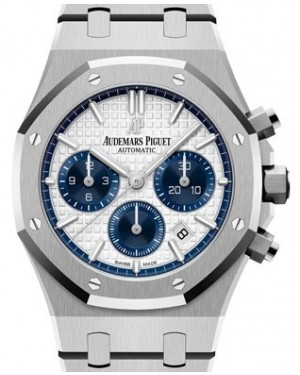 Audemars Piguet Royal Oak Selfwinding Chronograph Stainless Steel Silver Index Dial & Fixed Bezel Steel Bracelet 26315ST.OO.1256ST.01 - BRAND NEW