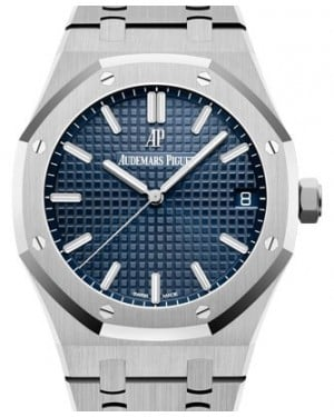Audemars Piguet Royal Oak Selfwinding Stainless Steel Blue Index Dial & Fixed Bezel Steel Bracelet 15500ST.OO.1220ST.01 - BRAND NEW