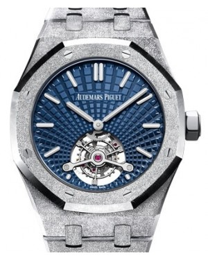Audemars Piguet Royal Oak Tourbillon Extra-Thin White Gold Blue Index Dial & Fixed Bezel White Gold Bracelet 26520BC.GG.1224BC.01 - BRAND NEW