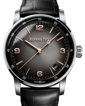 Audemars Piguet Code 11.59 Selfwinding White Gold/Sapphire 41mm Grey Dial Leather Strap 15210CR.OO.A002CR.01 - Brand New