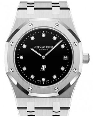"Audemars Piguet Royal Oak ""Jumbo"" Extra-Thin Platinum Black Diamond Dial 39mm Platinum Bracelet 15206PT.OO.1240PT.01 - BRAND NEW"