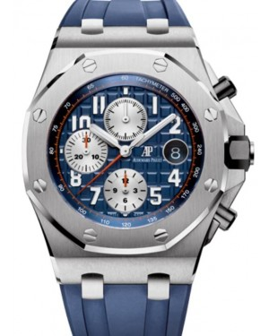 Audemars Piguet Royal Oak Offshore Chronograph Stainless Steel 42mm Blue Navy Dial Rubber Strap 26470ST.OO.A027CA.01 - BRAND NEW