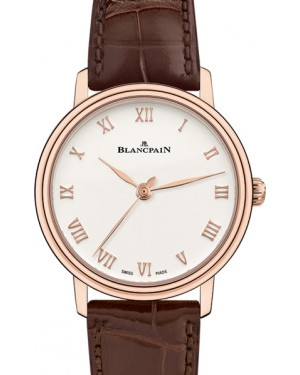 Blancpain Villeret Ultraplate Red Gold Opaline Dial Alligator Leather Strap 6104 3642 55A - BRAND NEW