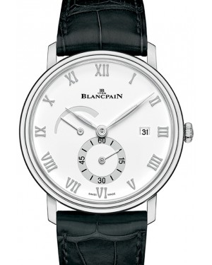 Blancpain Villeret Ultraplate Steel White Dial Alligator Leather Strap 6606A 1127 55B - BRAND NEW