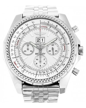 Breitling Bentley 6.75 Chronograph A44362 White Stainless Steel 48mm Mens