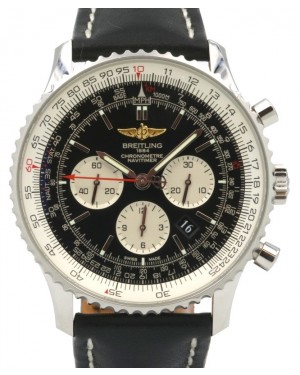 Breitling Navitimer 01 AB012721 Chronograph Stainless Steel Leather 46mm - PRE-OWNED