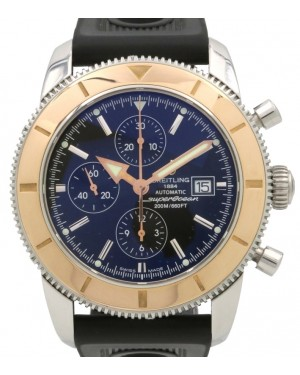 Breitling Superocean Heritage U13320 Chronograph 46mm Rose Gold Steel Black Automatic - PRE-OWNED