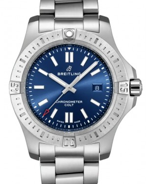 Breitling New Colt 44 Blue Dial Stainless Steel Bezel & Bracelet 44mm A17388101.C1A1 - BRAND NEW