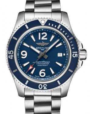 Breitling Superocean Automatic 44 Black Dial & Bezel Stainless Steel Rubber Bracelet 44mm A17367D81.C1A1 - BRAND NEW