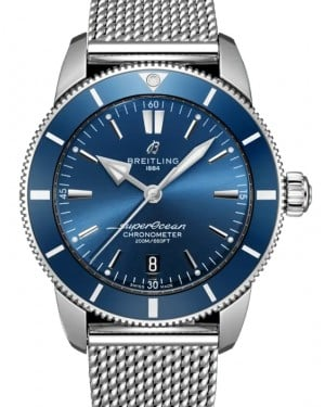 Breitling Superocean Heritage B20 Automatic 44 Blue Dial & Bezel Stainless Steel Bracelet AB2030161.C1A1 - BRAND NEW