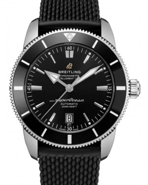 Breitling Superocean Heritage B20 Automatic 46 Black Dial Stainless Steel Rubber Strap AB2020121.B1S1 - BRAND NEW