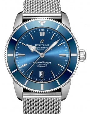 Breitling Superocean Heritage B20 Automatic 46 Blue Dial & Bezel Stainless Steel Bracelet AB2020161.C1A1 - BRAND NEW