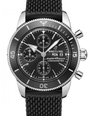 Breitling Superocean Heritage Chronograph 44 Black Dial Rubber Bezel & Bracelet A13313121.B1S1 - BRAND NEW