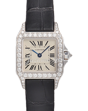 CARTIER WF902007 SANTOS DEMOISELLE WHITE GOLD AND DIAMONDS BRAND NEW