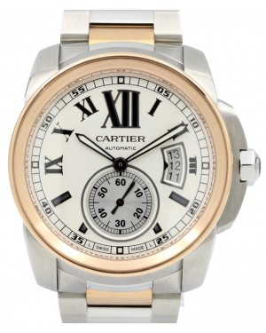 Cartier Calibre De Cartier W7100036 42mm 18k Rose Gold & Stainless Steel - BRAND NEW