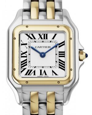 Cartier Panthere de Cartier Women's Watch Medium Quartz Stainless Steel Yellow Gold Silver Dial Stainless Steel Yellow Gold Bracelet W2PN0007 - BRAND NEW
