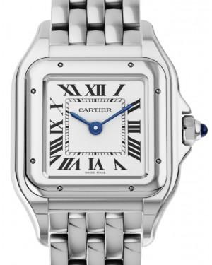 Cartier Panthere de Cartier Women's Watch Small Quartz Stainless Steel Silver Dial Steel Bracelet WSPN0006 - BRAND NEW