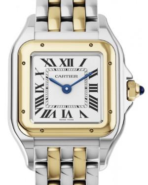 Cartier Panthere de Cartier Women's Watch Small Quartz Stainless Steel Yellow Gold Silver Dial Stainless Steel Yellow Gold Bracelet W2PN0006 - BRAND NEW