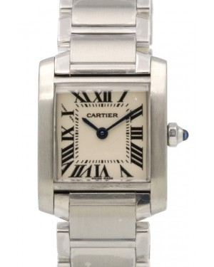 Cartier Tank Francaise Ladies Small Stainless Steel Silver Quartz W51008Q3 BRAND NEW