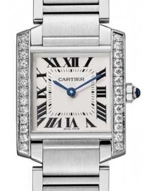 Cartier Tank Francaise Women's Watch Medium Quartz Stainless Steel Diamonds Silver Dial Steel Bracelet W4TA0009 - BRAND NEW