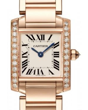 Cartier Tank Francaise Women's Watch Small Quartz Rose Gold Diamonds Silver Dial Rose Gold Bracelet WJTA0022 - BRAND NEW