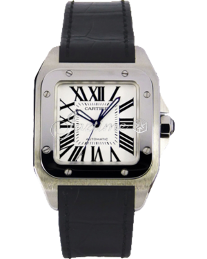 CARTIER W20106X8 SANTOS 100 STAINLESS STEEL BRAND NEW
