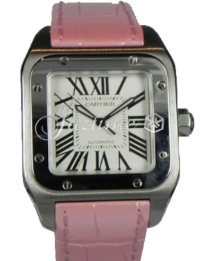 CARTIER W20126X8 SANTOS 100 STAINLESS STEEL BRAND NEW