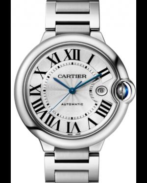 Cartier Ballon Bleu De Cartier Stainless Steel Silver 42mm Dial Bracelet Automatic W69012Z4 - BRAND NEW