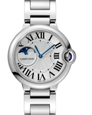 Cartier Ballon Blue De Silver Dial Stainless Steel Bezel & Bracelet 37mm WSBB0021 - BRAND NEW