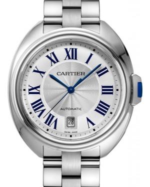 Cartier Clé de Cartier Men's Watch Automatic Stainless Steel 40mm Silver Dial Steel Bracelet WSCL0007 - BRAND NEW