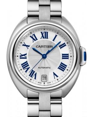 Cartier Cle de Cartier Women's Watch Automatic Stainless Steel 35mm Silver Dial Steel Bracelet WSCL0006 - BRAND NEW