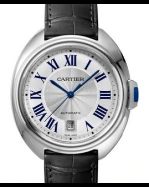 Cartier Cle De Silver Dial Stainless Steel Bezel & Bracelet 40mm WSCL0018 - BRAND NEW