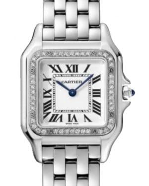 Cartier Panthère de Cartier Women's Watch Quartz Stainless Steel Diamonds Silver Dial Steel Bracelet W4PN0008 - BRAND NEW