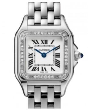 Cartier Panthère de Cartier Women's Watch Small Quartz Stainless Steel Diamonds Silver Dial Steel Bracelet W4PN0007 - BRAND NEW