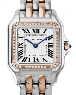 Cartier Panthère de Cartier Women's Watch Medium Quartz Stainless Steel Rose Gold Diamonds Silver Dial Steel Rose Gold Bracelet W3PN0007 - BRAND NEW